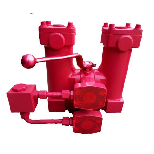 双筒管路过滤器(铸造式)